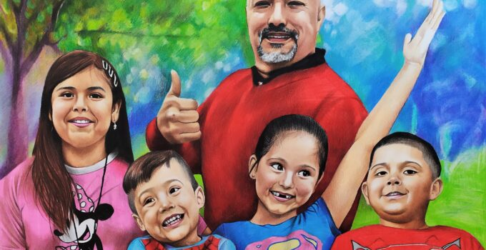 outdoor family portrait - superhero inspired